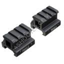 "Adapter unoszący z szyną Picatinny TRUGLO TG8982B RISER MOUNT PICATINNY 3/4"" - 2 PIECES"